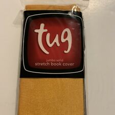 Tug Jumbo Solid Stretch Book Cover Standard Size Yellow/gold