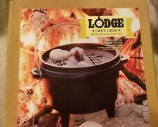 Discontinued Lodge #6 Cast Iron Camp Dutch Oven 1 Quart 3 Leg Kettle + Lid  box
