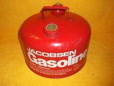 VINTAGE JACOBENSEN 2 1/2 GALLON GALVANIZED GAS CAN WITH SPOUT