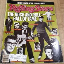 Rolling Stone Magazine #467 Feb 86 Rock & Roll Hall of Fame + Ricky Nelson 1940-