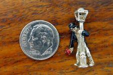 Post Mardi Gras Movable Enamel charm Vintage silver New Orleans Drunk On Lamp