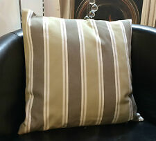 Beige and Mocha Striped Evans Lichfield Cushion Cover