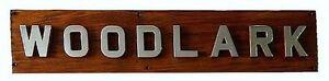ROYAL NAVY SHIPS NAME BOARD Ca 1950 HAMM CLASS