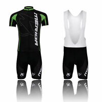 Merida Green Men's Team Cycling Kit Bike Bicycle Jersey & (Bib) Shorts Set S-5XL