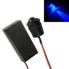 Large 10mm LED Intermitente Azul Coche, Moto, cobertizo de alarma falsa + Soporte