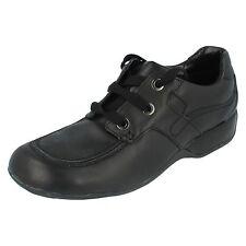 Girls Clarks Black leather Lace Up Shoe UK 7 G Fit Dazzledust