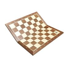 """Folding Walnut & Maple Wooden Chess Board - 2.25"""" With Notation & Logo"""