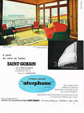 PUBLICITE ADVERTISING 054  1960  SAINT-GOBAIN  vitrage isolant  ATERPHONE