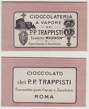 #CIOCCOLATERIA A VAPORE PP. TRAPPISTI- CARTONCINO LEGGERO PER CONFEZIONE