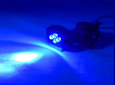 BLUE 4 LED MOTORCYCLE/CAR/BOAT/HOME POD LIGHT BRIGHT KIT GLOW and Street 12V