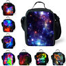 Galaxy Space Insulated Cooler Lunch Box School Food Storage Container Picnic Bag