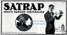 Fotopapier Satrap Reklame von 1917 Schering Lehmann Steglitz Kamera Werbung ad