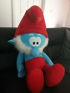 Smurf Soft Plush Toys Gift Ideas Papa Smurf Plush Blue Red Toy 60cm