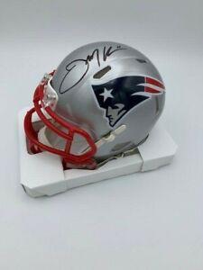 Julian Edelman Signed New England Patriots Speed Mini Helmet COA Hologram