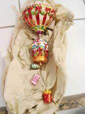 "Christopher Radko Grand Gift Air Lift Balloon Glass Ornament 16"" 32/10000 w/ box"