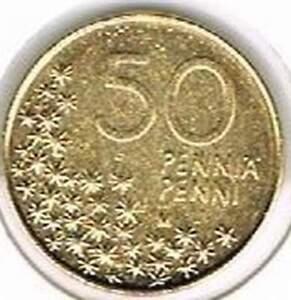 Finland 1991 vergulde / gold plated 50 pennia (goud015)