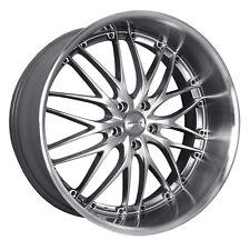 MRR GT1 19x9.5 5x114.3 Hyper Silver Wheels Fits Mazda Speed 3 Eclipse Tc Rx8