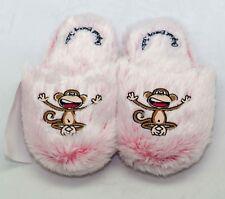 Genuine Bobby Jack Girl's Soft Pink Slippers Happy Monkey Chimp Small Cozy