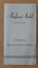 altes Reise Prospekt Ostseebad Timmendorfer Strand, Pension Stahl, um 1932