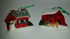 Plastic Christmas Ornaments Barn & House