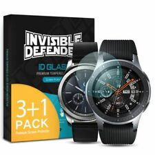 Ringke ID Glass Tempered Screen Protector for Samsung Galaxy Watch 46mm, 4 Pack