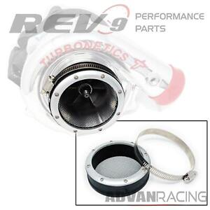 """Rev9 AC-101 Turbo Inlet Grill Protector Guard 3"""" ID Silver"""