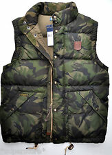 RALPH LAUREN POLO MEN'S WINTER WARM DOWN VEST COAT JACKET SKI CAMOUFLAGE CAMO M