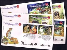 2002 Malaysia Tame & Wild Animals 4v Stamps +2 MS +2 imperf MS complete on 5 FDC
