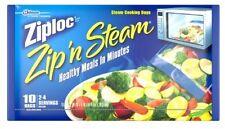 Ziploc Zip'n'Steam Microwave Cooking Bags, Medium - 10 Bags