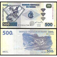 CONGO DEMOCRATIC REPUBLIC  500 Francs 04.01. 2002 UNC P 96 c