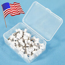 USA 100pcs Dental Polishing Polish Cups Prophy Cup Latch Type Rubber White Color