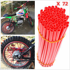 Red 72PCS NEW MTB WHEEL RIM SPOKE SHROUDS WRAPS SKINS COVERS MOUNTAIN BIKE CYCLE
