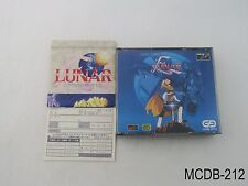 Lunar Eternal Blue w/ Map MegaCD Japanese Import Japan Sega Mega CD US Seller B