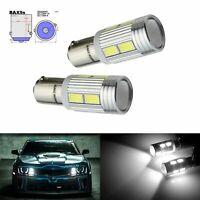 2x BAX9S H6W 10 SMD LED Ampoules Veilleuse Voiture Auto Blanc Xenon Lampe 12V