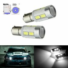 2x BAX9S H6W 10 SMD LED Ampoules Veilleuse Voiture Auto Blanc Xenon Lampe 12V
