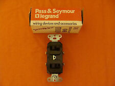 NEW OLD STOCK LEGRAND COMBO SWITCH 670 120/277 VOLTS 20 AMP BROWN