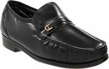 Mens Florsheim Riva Loafer Shoes - Black Leather, Size 9 US [17088 01]