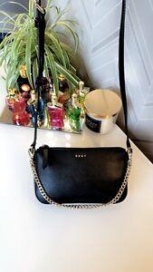 DKNY Black Gold Chain Crossbody Shoulder Handbag