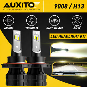 AUXITO H13 9008 LED Headlight Bulbs for Ford F-150 2004-2014 High Low Beam 6000K