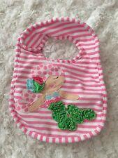 Mud Pie Mermaid Pink Striped Bib