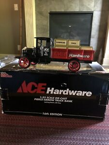 2004 Ace Hardware Pierce -Arrow Truck Bank With Key-16th Edition-1:33 Scale