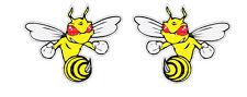 2x Angry Bee Sticker Decal Car Ski-Doo America Patriots ATV Bike Hornet Wasp BMX