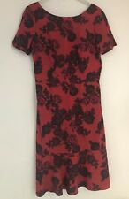 Womens Next Tall Dress Size 8 Eu 36 Ladies Short Sleeve Black Red Summer Dress