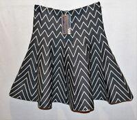 VALLEYGIRL Brand Grey White Knitwear Full Skirt Size S/M BNWT #RB23