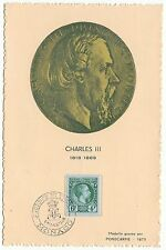 CARTE MAXIMUM  TIMBRE MONACO N° 301 JOURNEE DU TIMBRE CHARLES III