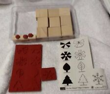 Stampin Up 2 Two Step Shapes & Shadows Set Of 12 Trees Leaves NEW Unmounted 2004