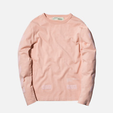 KITH X OFF-WHITE FLOCKED Off-palatte L/S Tee Size XL Pink BRAND NEW UNWORN