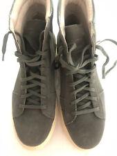 Andrew Marc Mens Shoes Remzen 0386 Suede Fashion Sneakers Gun/Cream Size 8-41