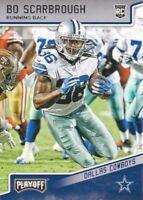 2018 Playoff Football #289 Bo Scarbrough RC Dallas Cowboys