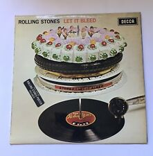 ROLLING STONES LET TO BLEED VINYL LP DECCA SKL5025 STEREO 1969 STICKERED